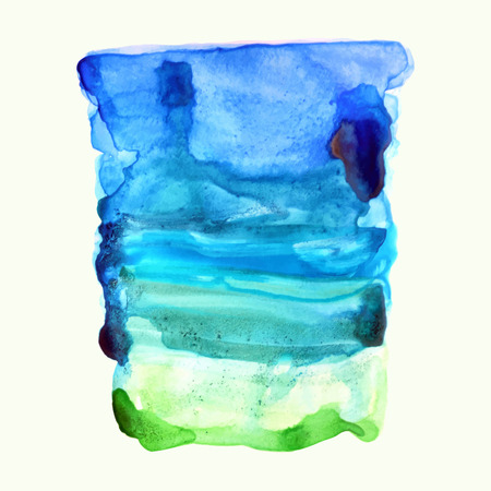 ultramarine: Ultramarine, blue and green watercolor background.