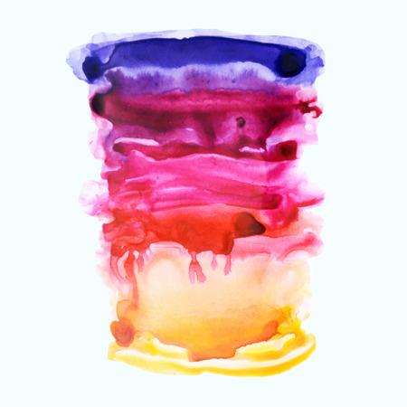 violet red: Violet, red and orange watercolor background.