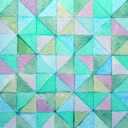 gauze: Seamless watercolor background with colorful triangles.