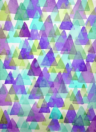 ultramarine blue: Watercolor triangles background. Triangles background of geometric shapes. Ultramarine, blue and green colors. Colorful texture in hipster style. Vector illustration.