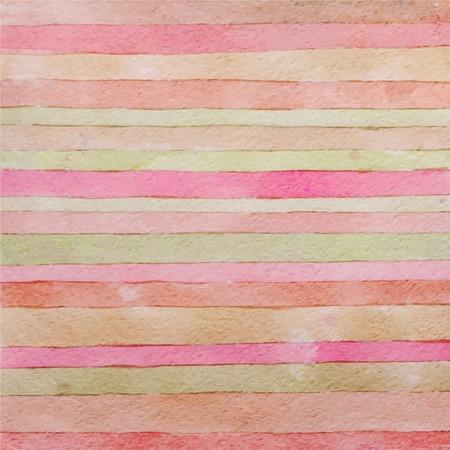 Striped hand drawn watercolor background. Stock Illustratie