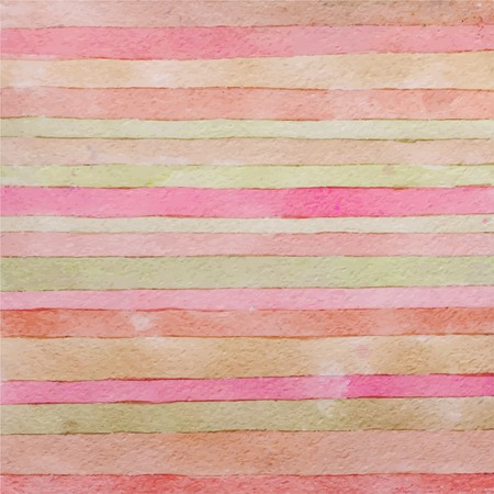 Striped hand drawn watercolor background. 向量圖像