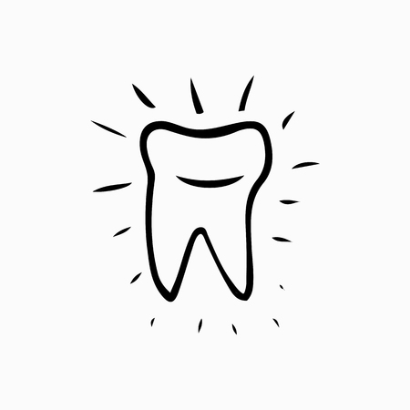 oral care: Tooth. Icon vector silhouette. Health, medical or doctor and dentist office symbols. Oral care, dental, dentist office, tooth health, tooth care, clinic. Tooth icon,  tooth Icon design.