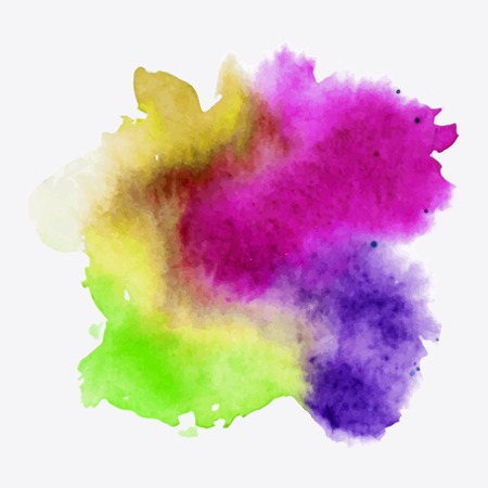 Abstract watercolor paint texture, isolated on white background. Watercolor drop.