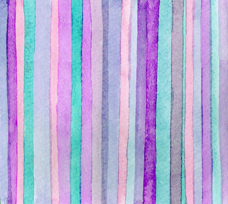 Striped hand drawn watercolor background. Bright colors. Watercolor composition for scrapbook elements or print 免版税图像