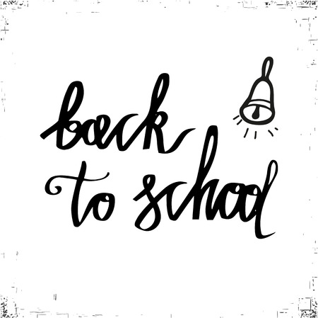 Back to school. Typography and lettering print template. Graphic design for back to school poster, advertising