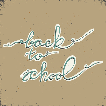 Back to school. Typography and lettering print template. Graphic design for back to school poster, advertising. 矢量图像