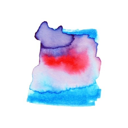 Abstract hand paint watercolor background ,vector illustration, stain watercolors colors on wet paper. Watercolor composition used for scrapbook elements or print, design, web, label. 免版税图像 - 99316119