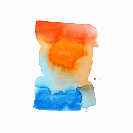 Abstract hand paint watercolor background ,vector illustration, stain watercolors colors on wet paper. Watercolor composition used for scrapbook elements or print, design, web, label. 免版税图像 - 99317139
