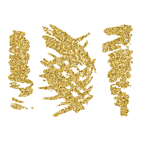 Set of gold glitter blots and splashes 矢量图像