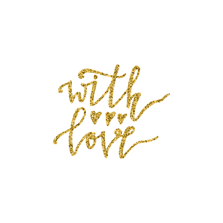 With love hand lettering design