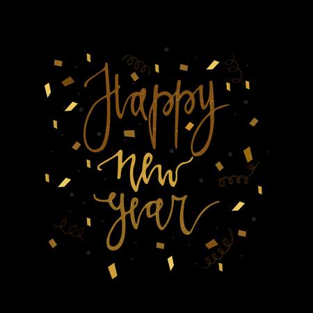 Happy new year postcard template 免版税图像 - 100778100