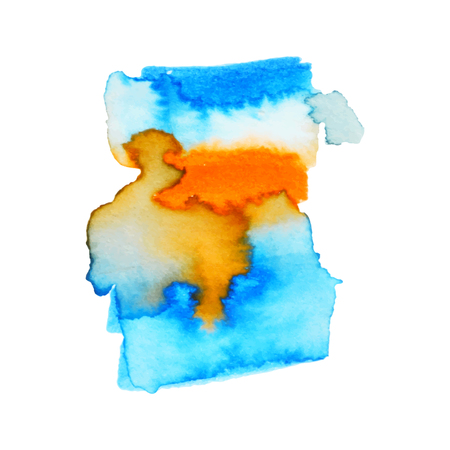 Watercolors stain on wet paper design 免版税图像 - 100778101