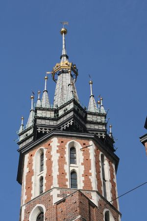 cracow: Mariacki church, cracow, poland