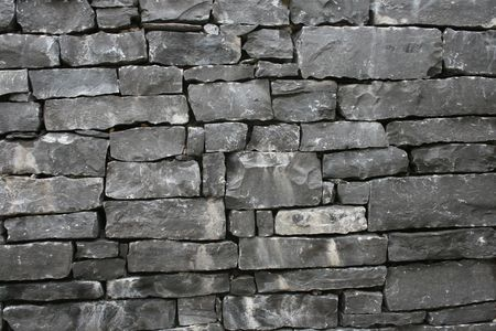 irish stone wall pattern Stock Photo