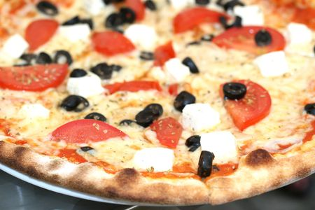 greek idea of the pizza photo