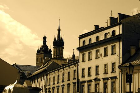 the old times: old times in krakow city, poland