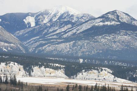 radium: serious rocky mountains, british columbia, canada