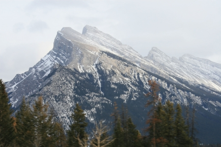rocky mountains abstract, banff, canada Stock Photo
