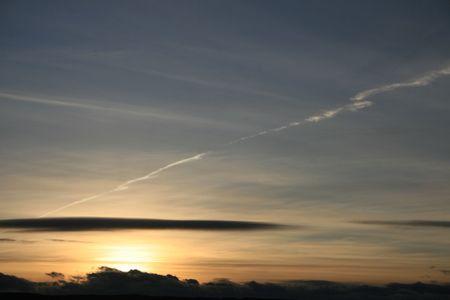 sunset in alberta photo