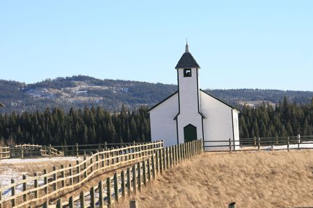 chapel on the canadian prairie photo