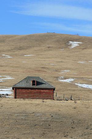 red farmhouse photo