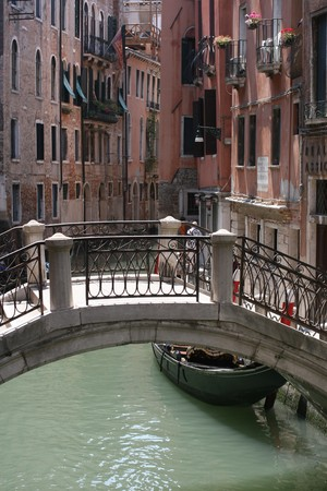 Hidden streets in Venice, Italy photo