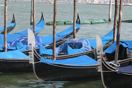 Gondolas in Venice, Italy photo