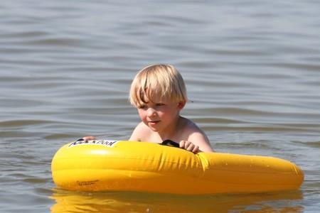 swimming in the sea Stock Photo