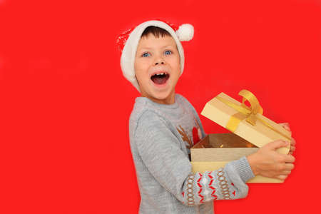 The child experiences the emotions of receiving a Christmas present