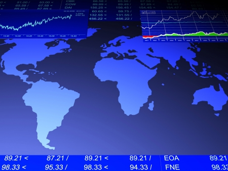 3d illustration: drawing from the sale of stock exchanges, business illustration
