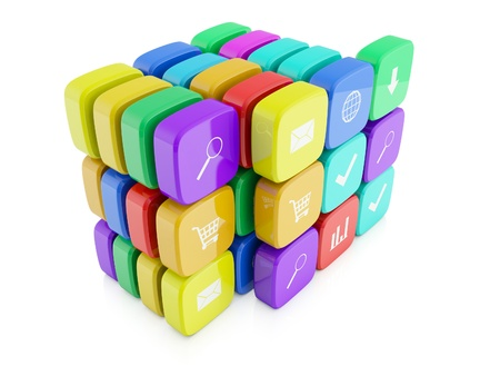 3d images of icons for telephone appendices Stock Photo - 13925156