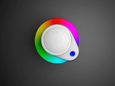Images of icons the lever of adjustment of color Stock Photo - 13924590