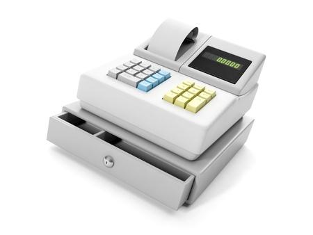 3d illustration: cash register close-up Banque d'images