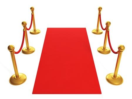 academy awards: 3d illustration: sports awards. Red Carpet