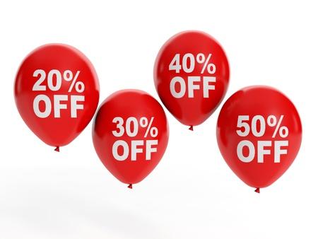 3d illustration: Sale Sale. Balloon and discounts Banque d'images