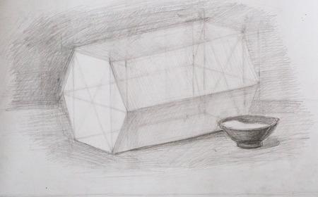 contemplation: Still life, pencil drawing