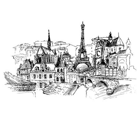 Paris, vector illustration for your design