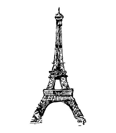 high beams: The Eiffel Tower, vector illustration Illustration