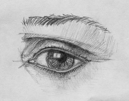My Eye, pencil illustration Imagens