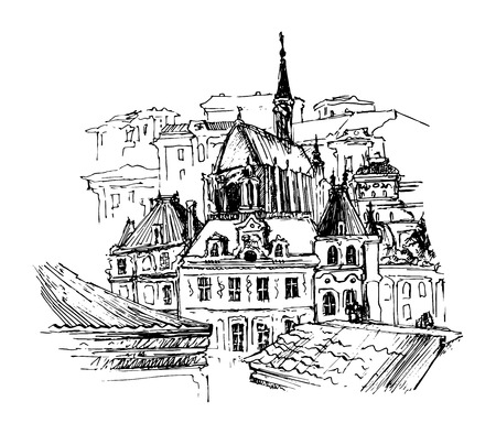 old city: Old city, vector illustration for your design