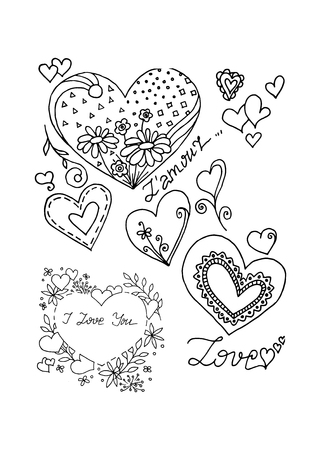 Heart and love, vector illustration on your canvas