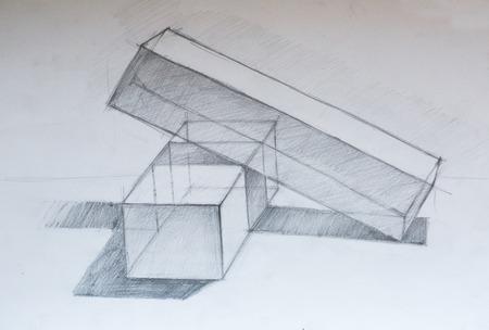 equilibrium: Still life, pencil drawing