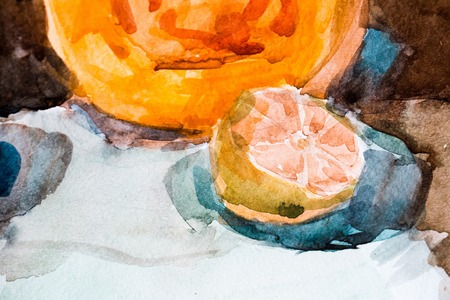 Still life, watercolor drawing for your design