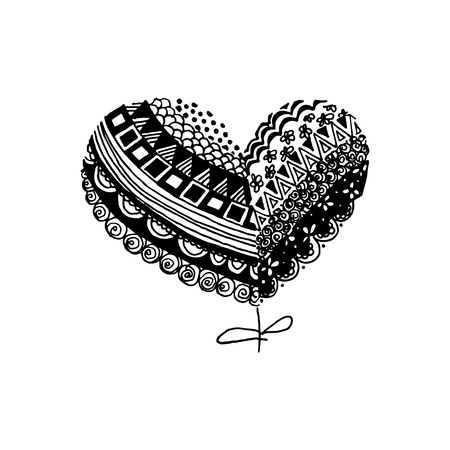 Heart, vector illustration on your canvas