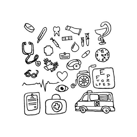 Medicine, vector illustration on your canvas