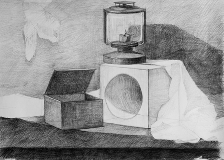 Still life, pencil drawing for your design