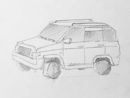 transport pencil illustration for your design