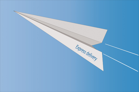 express delivery . Symbol for delivery service. Delivery service. Instant delivery. Flies a paper plane.