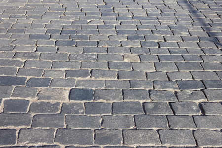 Cobbles Red Square Moscow. Cobbles background. Stone road background. Road stone.